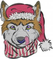 Jindo Christmas embroidery design