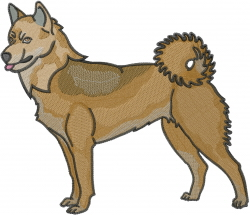 Korean Jindo embroidery design