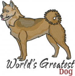 Worlds Greatest Dog embroidery design