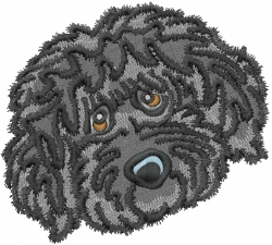 Labradoodle Head embroidery design