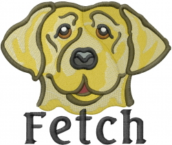 Fetch embroidery design