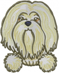 Lhasa Apso embroidery design