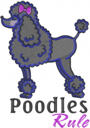 Poodles Rule embroidery design