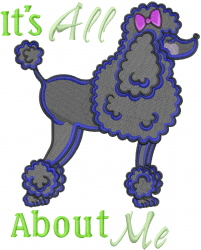 Its About Me embroidery design