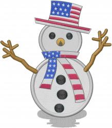American Snowman embroidery design