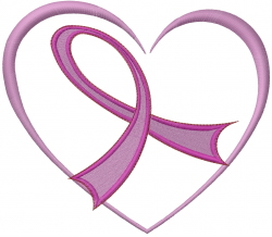 Breast Cancer Love Heart embroidery design