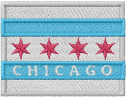 Chicago Flag embroidery design