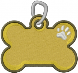 Dog Name Tag embroidery design