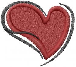 Heart Love embroidery design