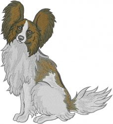 Papillon Dog embroidery design