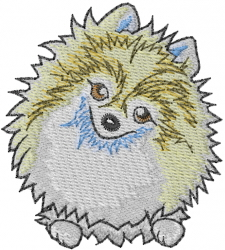 Pomeranian Pup embroidery design