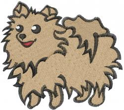 Pomeranian Dog embroidery design