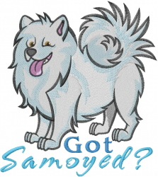 Got Samoyed embroidery design