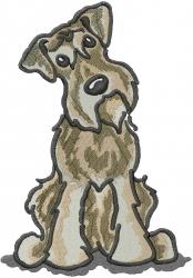 Schnauzer Dog embroidery design
