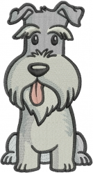 Dog Schnauzer embroidery design