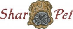 Shar Pei Head embroidery design
