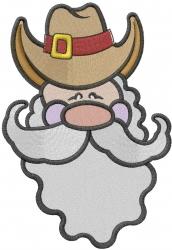 Cowboy Christmas Santa embroidery design