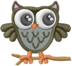 Cute Owl embroidery design