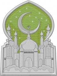 Ramadan Temple embroidery design