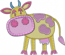 Patchwork Cow embroidery design