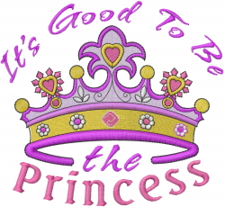 The Princess embroidery design