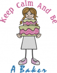 Be A Baker embroidery design