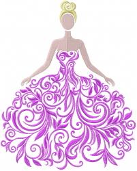 Swirl Wedding Dress embroidery design