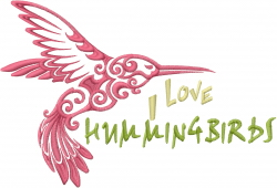 Love Hummingbirds embroidery design