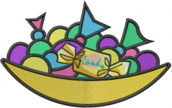 Candy Dish embroidery design