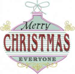 Christmas Vintage Ornament embroidery design