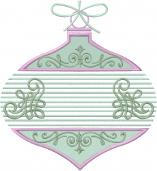 Christmas Vintage Bauble embroidery design
