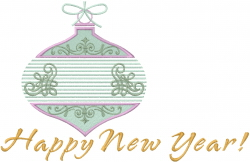 Happy New Year Ornament embroidery design