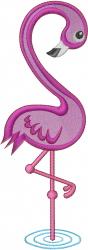 Love Flamingo embroidery design