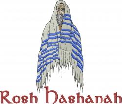 Rabbi Rosh Hashanah embroidery design