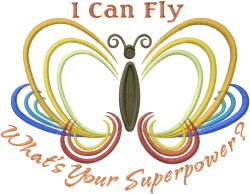 Butterfly Can Fly embroidery design