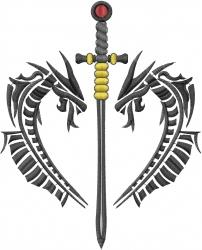 Celtic Dragon Heart embroidery design