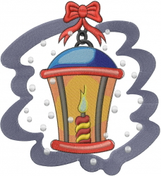 Christmas Street Lamp embroidery design