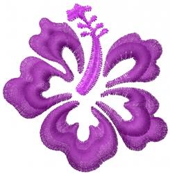 Hawaiin Flower embroidery design