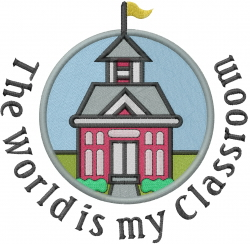 World Is My Classroom embroidery design