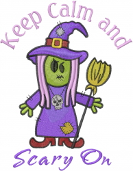 Witch Zombie Scary On embroidery design