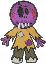 Kids Zombie embroidery design