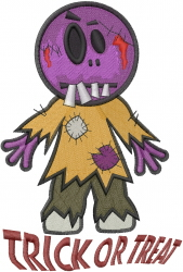 Zombie Trick Or Treat embroidery design