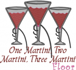 No Limits Martini embroidery design