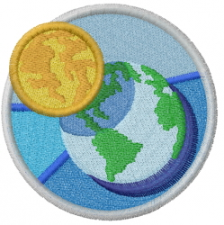 Moon And Earth embroidery design