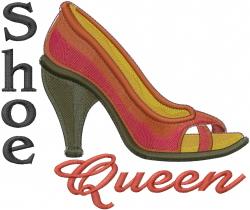 Shoe Queen embroidery design