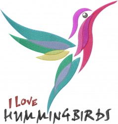 I Love Hummingbirds embroidery design