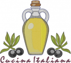 Cucina italiana olive oil embroidery designs machine for Cucina italiana design