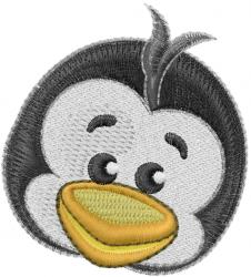 Penguin Head embroidery design