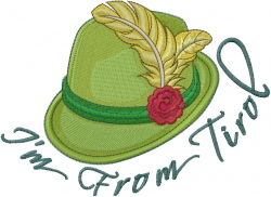 Im From Tirol embroidery design
