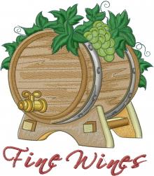 Fine Wines embroidery design